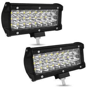 7 zoll 72 watt 7200lm ip68 wasserdicht 3 reihe led streifen arbeitslicht bar refit fahren off-road licht dach streifen lampe fahrzeug jeep suv