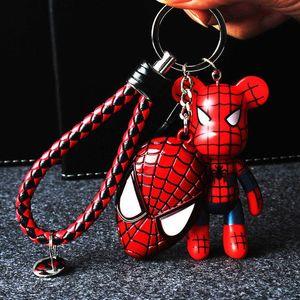 Ours Porte-clés Créatif King Kong Iron Man Spiderman Batman Pendentif Clé De Voiture Chambre Salon Décoration Pendentif