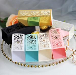 Nuevo láser boda ahuecado caramelo de la caja del chocolate del amor de oro de la boda del día de San Valentín Caja de accesorios de boda