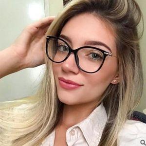 New Frame Brille Frauen-Marken-Retro Optische klare Glas-Feld Trending Typen Computer Mode Brillen 2019