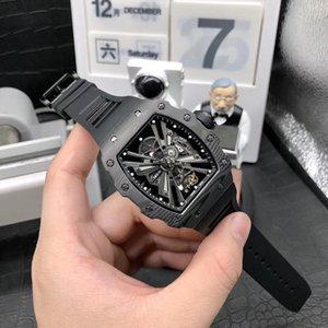 RM factory high version rm12-01 skull dial ntpt black carbon fiber case Japanese Miyata automatic mechanical men's watch rubber band Watch r