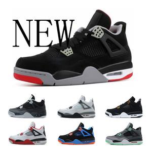 jordan 4 Ücretsiz Kargo ayakkabı 4 s ucuz Royalty basketbol ayakkabıları Korku Çimento Oreo Black Cat Sneaker Spor Ayakkabı, Online Satış boyutu 8-13