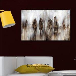 Pintado a mano HD Print Abstract Animal Art pintura al óleo Caballo sobre lienzo Arte de la pared Decoración para el hogar Alta calidad Multi tamaños a146