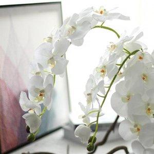 Party Silk Orchid Köpfe der künstlichen Blume Schmetterling Orchideen-Blumen-Dekoration-Fälschungs-Blume Ast