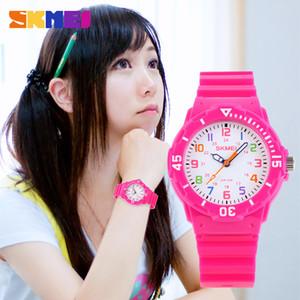 SKMEI moda Casual niños relojes 5bar impermeable relojes de pulsera de cuarzo jalea niños reloj niños reloj montre enfant 1043