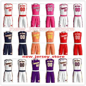 Pictures gibi herhangi bir sayıda Man Kadın Lady Gençlik Çocuk Erkek Basketbol Formalar Spor Gömlek Sen ZZ0129 Teklif Herhangi adını özelleştirme