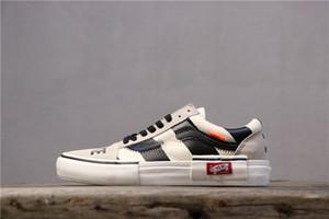 Off-White X Vans Son model Eski Skool KAPALI siyah ve beyaz AYAKKABI Taylor tuval erkek ve kadın koşu ayakkabıları moda rahat ayakkabılar VN0A38G2QWB kutusu