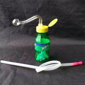 Spire Bottiglia Narghilè, unico del bruciatore a nafta di vetro Bong Tubi Tubi di acqua di vetro tubo di olio rig fumatori con contagocce