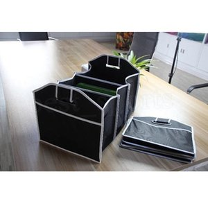 50 * 32,5 centímetros de alta qualidade Car Trunk Organizer Car Toys Food recipiente de armazenamento caixa de sacos de Styling Auto Acessórios Interior Suprimentos ZZA1677