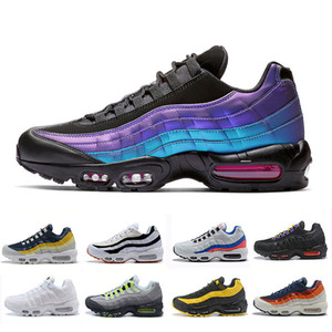 Nike air max 95 shoes 2019 cheap Laser Fuchsia chaussures OG Mens Womens Running Shoes Classic Black Red White men Trainer Surface Sports outdoor Sneakers 36-46