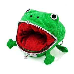 Мини монета кошелек мультфильм лягушка монет сумка кошелек Аниме Манга Форма Fluff сцепления Косплей Зеленая лягушка бумажник Оптовая JJ142
