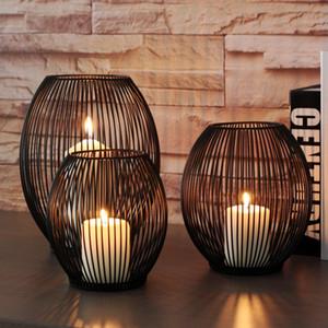 Morden Metallhohl Kerzen Leuchter Artikel Laterne Anhänger Hauptdekoration Geschenke Verkauf