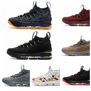 L015HA 2019 Yeni Tasarımcı 15 Eşitlik Siyah Beyaz Erkekler 15 s Basketbol Ayakkabıları Erkek Koşu atletizm Ayakkabı Eğitmenler Açık Sneakers Ayakkabı