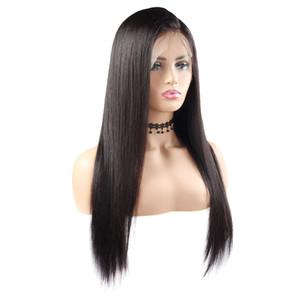 "Indian Body Wave Wigs 360 encaje completo pelucas de cabello humano 10 ""-26"" pelucas de cabello humano recto brasileño"