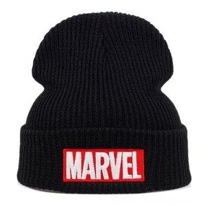L'alta qualità Marvel Lettera fredda cotone Berretti casual per uomo Cappelli Cappelli Cappelli, Sciarpe Guanti modo delle donne lavorato a maglia inverno Cappello Hiphop Cod