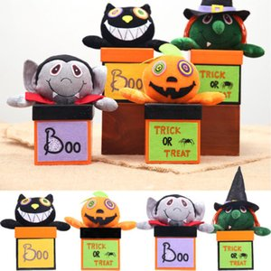 1PCS 종이 사탕 선물 상자와 핸들 간식 선물 가방 파우치 할로윈 파티 인형 쿠키 항아리 케이스 컨테이너 주최자