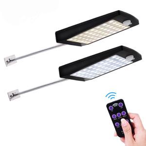 Edison2011 luzes solares ao ar livre 48 led parede sensor de movimento solar luz com controle remoto sem fio à prova d 'água lâmpada de segurança para parede