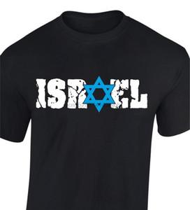 Новая мода мужчины с коротким рукавом Израиль футболки звезда Давиды майк патриотического Основные Tops