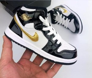 Luxury Kids 1s Space Jam Bred Concord Gym Red off Basketball Shoes Children Boy Girls youth white Midnight Navy Sneakers Toddlers bnmcix3s