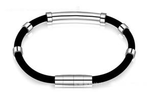 Hochwertige Negativ-Ionen-Silikon-Armband Magnet-Therapie Armreif antifatigue Edelstahl Gesundheitsschutz Armband