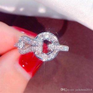 Joyería de la manera simple 925 plata esterlina mano de alta calidad de corte princesa Topaz blanco Partido Diamante CZ mujeres de la correa de boda anillo de la venda de regalos