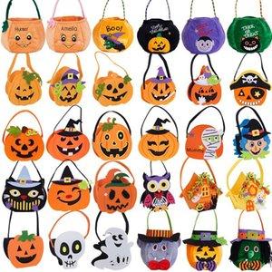 Çocuklar Cadılar Bayramı Şeker Torbaları Çocuk Hile veya Tedavi Kabak Şeker Torbaları Cadılar Bayramı Cadı Yarasa Şeker Kova