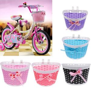 5pcs Kids Bicycle Basket Detachable Plastic Bicycle Handlebar Basket