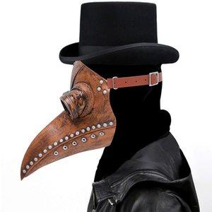 Freier DHL Lustige Steampunk Pest-Doktor Maske Latex Bird Beak maskiert langer Mund Halloween Cosplay Partei-Ereignis-Ball-Kostüm Requisiten X99FZ