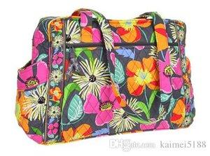 Neue VB Baby Wickeltasche Blume Umhängetasche Geldbörse Handtasche Einkaufstasche