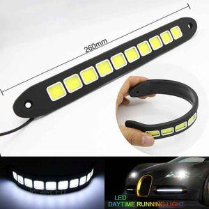 10PCS feux diurnes LED COB Auto Accessoires Car-Styling Car DRL Source lumineuse