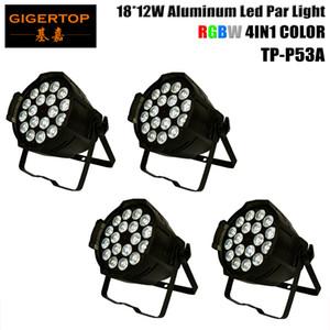 TIPTOP American DJ Pro par 4XLOT RGBW LED PAR 54 Cans DMX Control 4/8 Kanäle 18x12W 4 Farbe LED-Lampe Schwarz Farbe 110V-240V