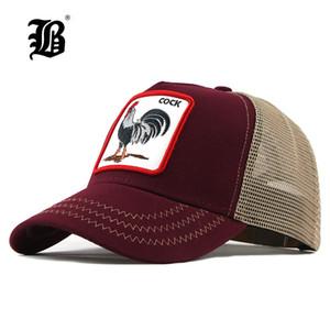 [FLB] Sommer Tier Baseballmütze Stickerei Mesh Cap Hüte für Männer Frauen Snapback Gorras Hombre Hut Lässige Hip Hop F303