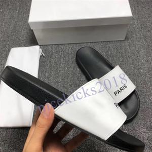 Parigi Mens Womens Summer Sandals Sandali Beach Slide Pantofole da donna Scarpe casual da donna Stampa in pelle Solid Color 36-46 con scatola