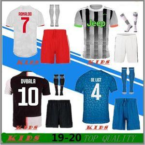2019 2020 maillot juventus Soccer Jersey kids DYBALA RONALDO Soccer Shirt enfants 19 20 Juventus kids Personnalisé DE LIGT MANDZUKIC Maillots de foot