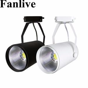 Fanlive 20pcs 15w 20w 30W PANNOCCHIA Faretti per binario Lamp Leds Tracking Fixture Spot Lampadine per negozio Negozio Mall Exhibition
