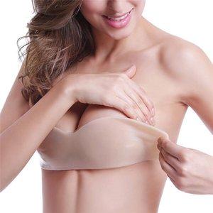 الذاتي لاصق حمالة البرازيلي مثير ملابس فام دفع ما يصل البرازيلي سيليكون مثبت Bralettes رفع الثدي الشريط غير مرئية حمالات الصدر للنساء