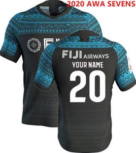 2020 fidji maison maillot de rugby Sevens olympique shirt de qualité thaïlande 18 19 20 Taille Jersey National du Rugby 7 fidji S-XL-5XL (peut imprimer)