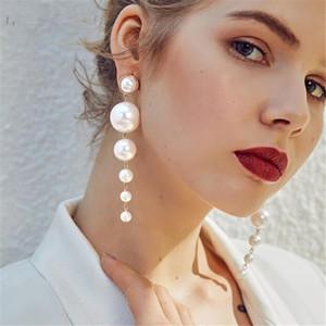 women Long tassel pearl Stud earring