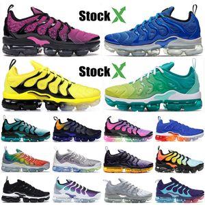 Persian Violet Nike Vapormax TN Plus Zapatos para correr para hombre y mujer Zapatos de diseñador 2019 Foto Azul Bumblebee Sunset Blanco Negro Zapatillas de deporte deportivas 5-11