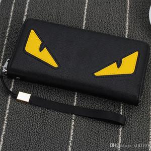 도매 - 2016 새로운 브랜드 남성 지갑 지퍼 긴 전화 클러치 백 패션 높은 품질 보증 눈 지갑 클러치 지갑 무료 shippi