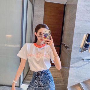 stessi ins cotone Web celebrità della camicetta maglietta femminile a maniche corte studentesse versione coreana sciolto bestie vestiti sociali moda femminile