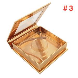 Magnetic Lashes Box with eyelash tray 3D Mink Eyelashes Boxes False Eyelashes Packaging Case Empty Eyelash Box 50 sets free shipping DHL
