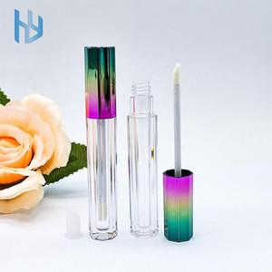 Upscale heißen Verkauf Achteck Farbverlauf Private Label leer Lipgloss kosmetische Verpackung Rohr Lipgloss Behälter