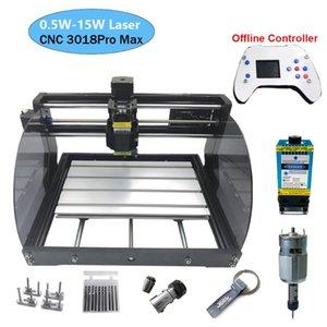 3018 Pro Max Max Laser Cuvrant Machine Puissance 0.5W-15W 3Axis CNC Routeur CNC DIY MINI MINI TROUVERTURE DE BOIS DE BOIS AVEC CONTRÔLTER OFFLINE