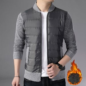 Men's Jackets Mens Casual Coat Stand Collar Winter Warm Zipper Jacket Long Sleeve Cardigans