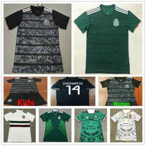 2019 2020 Messico GOLD CUP Nero Soccer Jerseys Coppa del Mondo di casa Away CHICHARITO Camisetas de futbol personalizzato H.LOZANO G.DOS SANTOS Camicie
