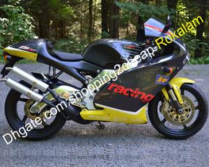 Motocicleta de carreras para Aprilia RS250 1998 1999 2000 2001 2002 RS 250 98 99 00 01 02 Amarillo Negro Carrocería Carenado Kit del mercado de accesorios