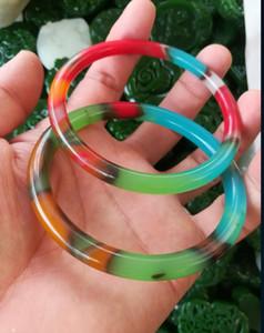 56-60mm китайский естественный красочный нефрита браслет бесплатная доставка C3