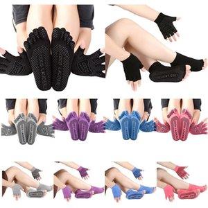Full Half Finger Thin Five Toe Sock Slippers Women Lady Invisibility Socks Yuga Black Five Finger Socks Sport Girl With Gloves
