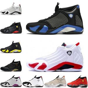 Erkek 2019 Siyah Mavi şeker kamışı 14 s XIV ters Altın siyah Sarı erkek basketbol ayakkabıları son atış Thunder erkekler spor Tasarımcısı Sneakers